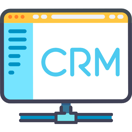Icon of a CRM on a desktop screen