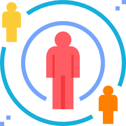 Icon of colored circles with human figures