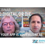 Banner from the Go Digital or Die Podcast featuring Kristin Zhivago and Frank Zinghini