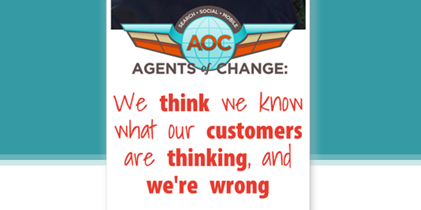 Banner from The Agents of Change podcast with Rich Brooks