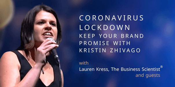Banner for podcast episode with Kristin Zhivago and Lauren Kress, The Business Scientist