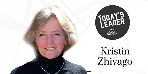 Today's Leader podcast banner with Kristin Zhivago
