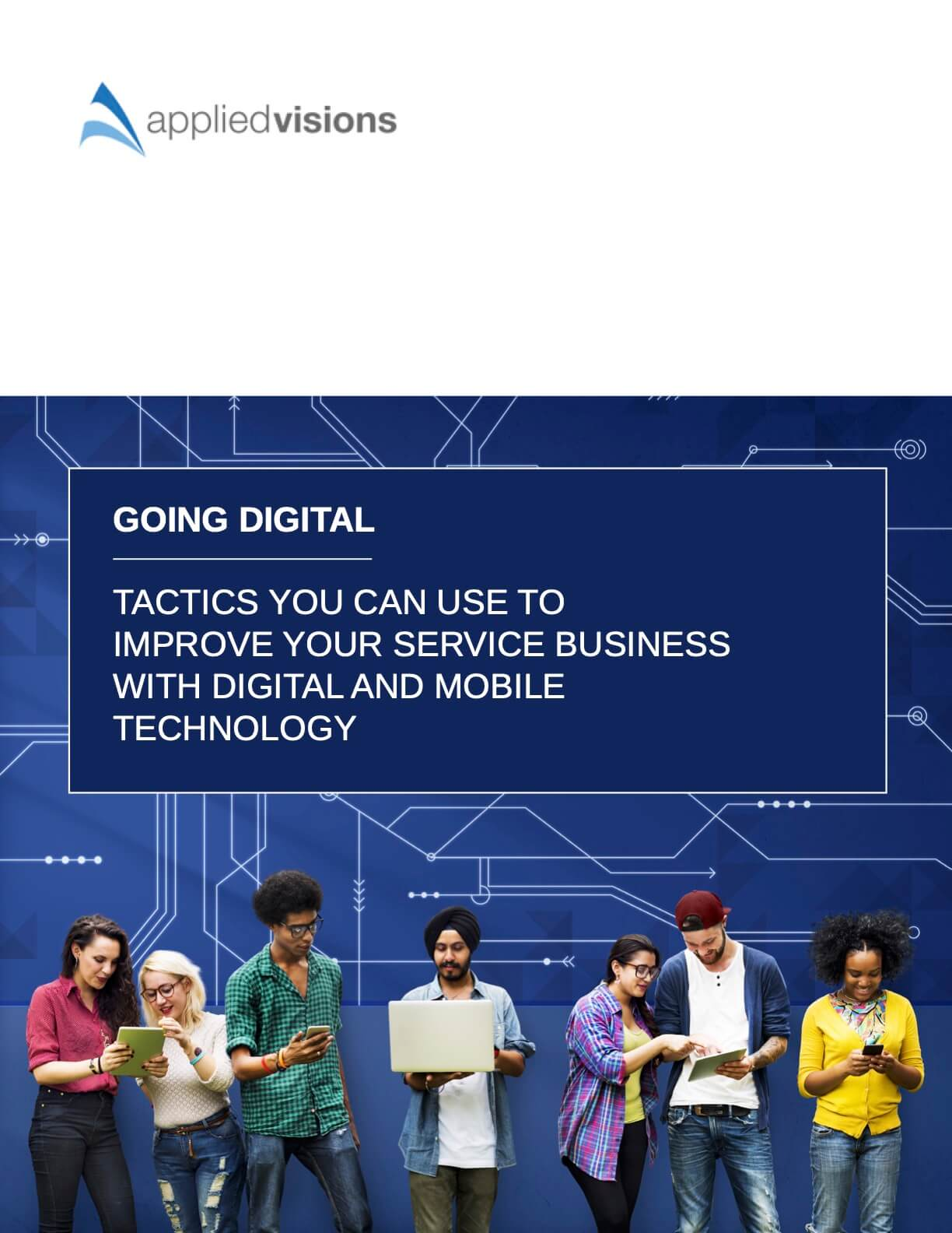 "Front cover of guide entitled ""Going Digital"" for Applied Visions"